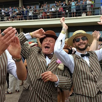 Cinque Ports Lindy Hoppers: Bexhill Roaring Twenties 2017 - Charleston world Record attempt - Taken just as the new world record was confirmed! - Photo by Nikkie Cooke