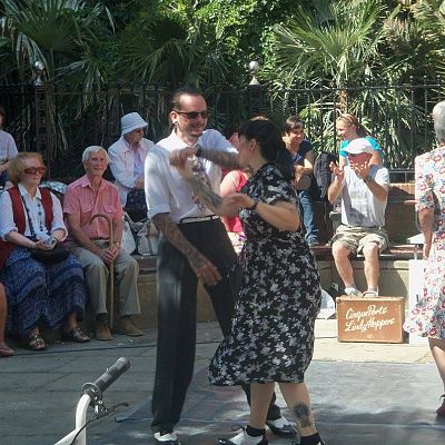 Cinque Ports Lindy Hoppers: Hastings Old Town Carnival August 2015 - Freestyle Lindy Hop - Photo courtesy of Hastings 87.9 Carnival FM