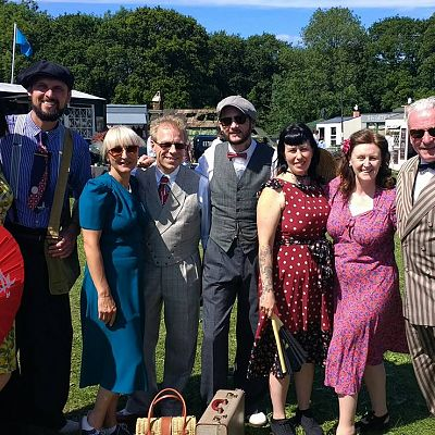Cinque Ports Lindy Hoppers: Isle of Wight - Havenstreet 1940s Weekend - July 2017 - 1940s civilian clothing - Photo courtesy of Nikkie Cooke