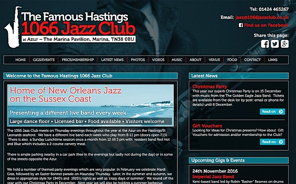 Click to find out more about the 1066 Jazz ClLub website