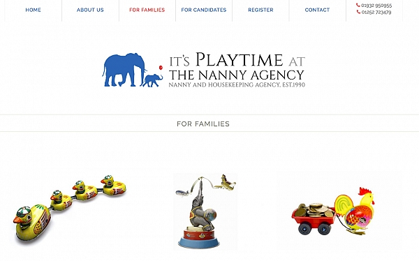 Click to find out more about the It's Playtime at the Nanny Agency website